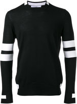 Givenchy paneled long sleeve jumper - men - Wool - S