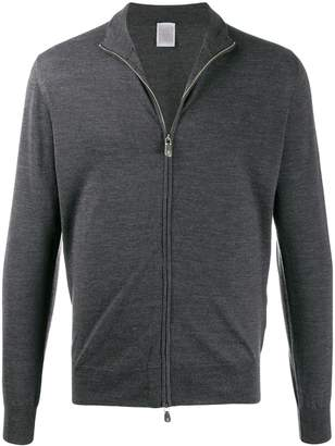Eleventy zipped fitted sweatshirt