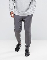 Asos Tapered Joggers In Charcoal Marl