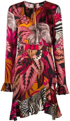 Just Cavalli asymmetric tropical-print dress