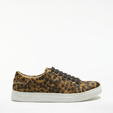 John Lewis Eva Lace Up Trainers, Leopard Hair on Hide