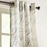 """Pier 1 Imports Gray Calligraphy 108"""" Curtain"""