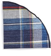 Alexander Olch Men's Plaid Pocket Round