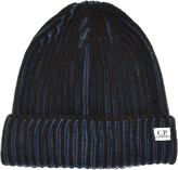 C.P. Company Two Tone Beanie Hat Blue