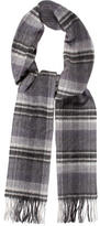 Mulberry Plaid Cashmere Scarf
