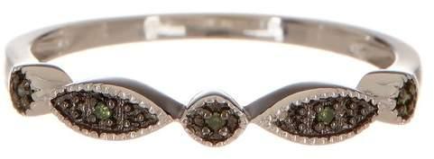 Savvy Cie Blue Diamond Circle & Marquise Band Ring - 0.15 ctw