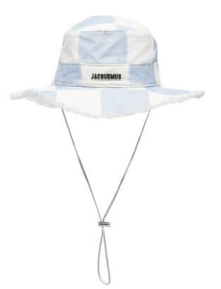 Jacquemus Le Bob Artichaut Checked Cotton-Linen Bucket Hat
