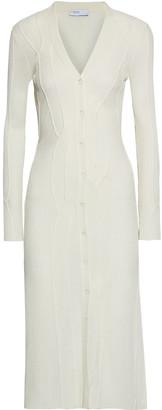 Rosetta Getty Cable-knit Ribbed Merino Wool-blend Midi Dress