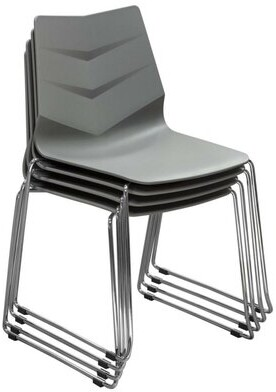 Benzara Plastic Stackable Chair Seat Finish: Gray