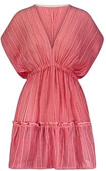 Lemlem Wubet Plunge Neck Mini Dress