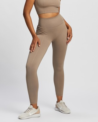 Aim'n - Women's Brown all compression - Luxe Seamless Tights - Size XS at The Iconic