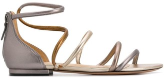 Alexandre Birman Flat Strappy Sandals