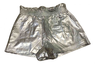 Topshop Tophop Silver Shorts for Women