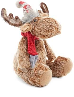 Glucksteinhome Merry & Bright Faux Fur Sitting Moose