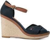 Tommy Hilfiger wedged sandals - women - Cotton/rubber - 37