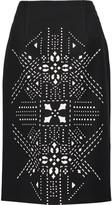 Roland Mouret Bunsby laser-cut jersey skirt