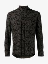 Etro Raw Edge Wool Blend Paisley Shirt