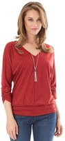 Apt. 9 Women's 3/4-Sleeve Banded Bottom Top