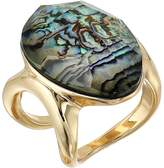 Robert Lee Morris Abalone and Gold Stone Ring Ring