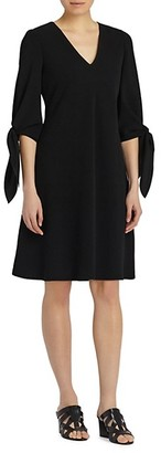 Lafayette 148 New York Tie-Cuff Flare Dress
