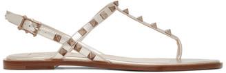 Valentino Beige Garavani Rockstud Sandals