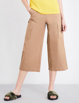 Mo&Co. Wide-legged cropped pants