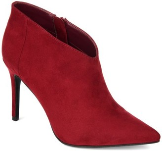 Brinley Co. Womens Pointed Toe Ankle Bootie