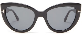 Tom Ford Anya Cat-eye Acetate Sunglasses - Womens - Black