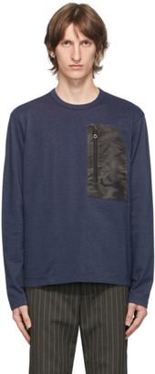 Junya Watanabe Navy Pocket Long Sleeve T-Shirt