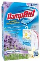 DampRid Damp Rid Hanging Moisture Absorber Bag - Lavender Vanilla Scent - 14 oz - 3 ct