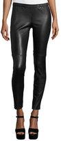 MICHAEL Michael Kors Lambskin Leather Leggings, Black