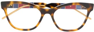 Gucci interlocking GG rectangular-frame glasses