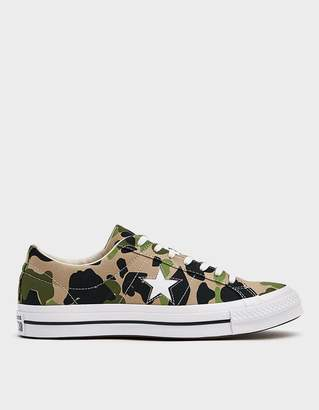 Converse One Star Ox Archive Print Sneaker in Candied Ginger
