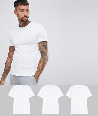 BOSS bodywear 3 pack crew neck t-shirts-White