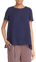 Diane von Furstenberg 'Maggy' Short Sleeve Button Back Silk Blouse