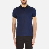 Versace Men's Lion Backprint Polo Shirt Bluette/Black