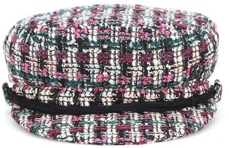 Maison Michel New Abby tweed wool-blend cap