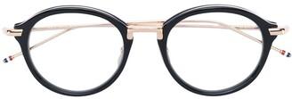 Thom Browne Eyewear Black & Shiny 18K Gold Optical Glasses