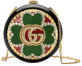 Gucci Broadway Enameled Flower Bag