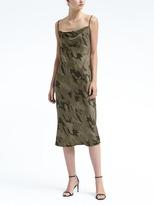 Banana Republic Strappy Camo-Print Slip Dress