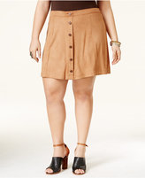 American Rag Trendy Plus Size Faux-Suede A-Line Skirt, Only at Macy's