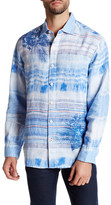 Tommy Bahama Long Sleeve Ocean Tides Breezer Linen Regular Fit Shirt