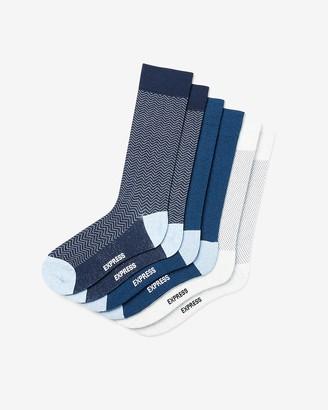 Express 3 Pack Blue Dress Socks