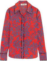 Diane von Furstenberg Printed Silk Crepe De Chine Shirt - Pink