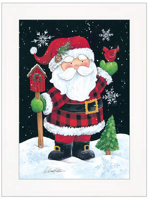 "Trendy Decor 4U Santa by Diane Kater, Ready to hang Framed Print, White Frame with Iron Easel, 11"" x 16"""