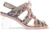 Simone Rocha Snake-effect leather sandals