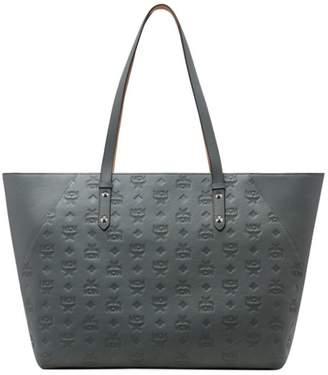 MCM Medium Klara Monogram Leather Shopper