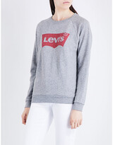Levi's Ladies Black Vintage Relaxed Cotton-Jersey Sweatshirt, Size: L