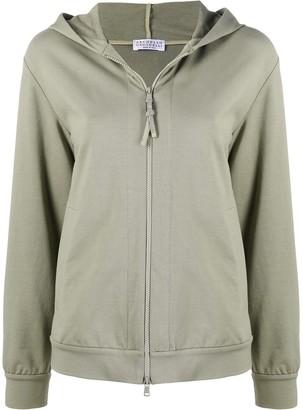 Brunello Cucinelli Zip-Up Hooded Sweatshirt