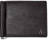 Cathy's Concepts Men's Monogram Leather Wallet & Money Clip - Black